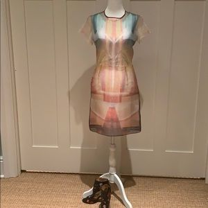 NWOT CLOVER CANYON MULTI COLORED DRESS SIZE XS/S